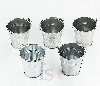 12 x Kitchen Fry Mini Serving Buckets for Chips, Food, Storage, Plant Pots 10cm