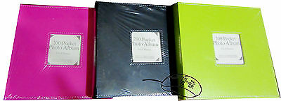 6X4 200 Pockets Vibrant Photo Album Slip-In Picture Storage Wedding Birthday1175