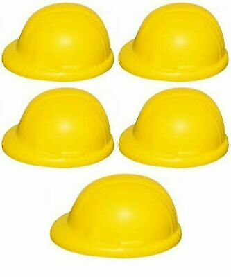 5 x ANTI-STRESS RELIEVER, STRESSBALL, CONSTRUCTION HARD HAT, BUILDER, ARTHRITIS