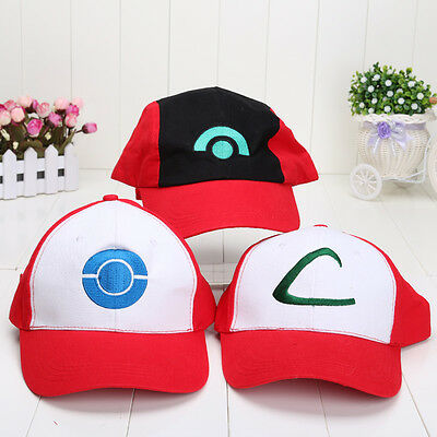 NEW Quality Ash Ketchum Pokemon GO Cap Embroidery Hat Cosplay Costume