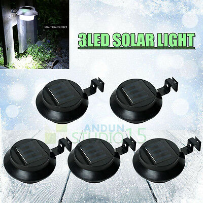 5X Solar Clip-on Power Fence Gutter Outdoor Garden Yard Pathway Lamp Lights LED