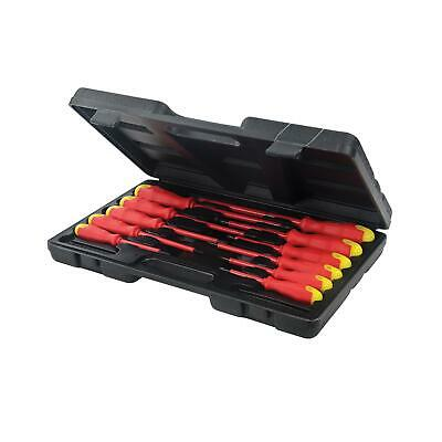 Fully Insulated Electricians Soft Grip Screwdriver Set 11pc In Case