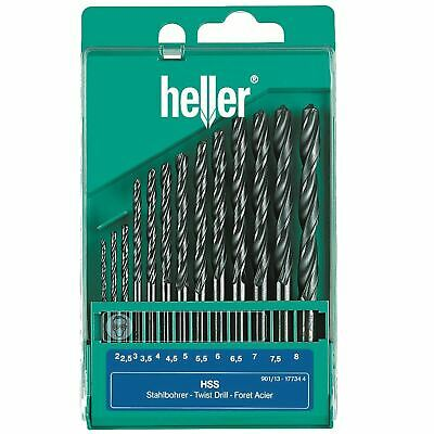 Heller 13 Piece HSS-R Metal Drill Bit Set 2mm - 8mm Rolled Jobber German Tools