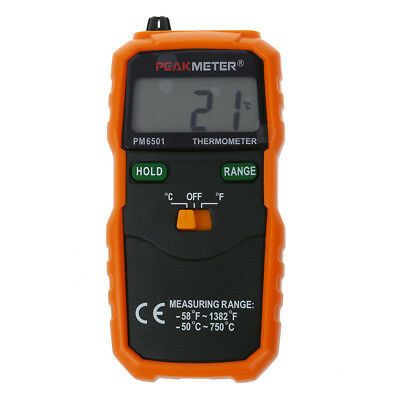 PM6501 K Type Digital LCD Thermometer Temperature Meter Tester Probe PK