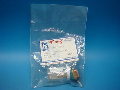 (1) Cinch M24308/8-1F Connector D-Sub Plug 9 Pin Position Crimp Pins Dsub