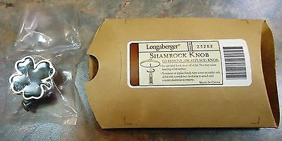 Longaberger  Shamrock Knobs - New In Package - 10 Available