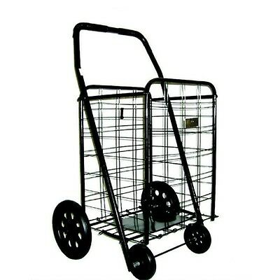 Extra Large Shopping Cart Heavy Duty Rolling Grocery Laundry Folding Wheels New