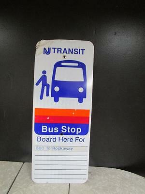 Vintage Bus Sign Nj Transit Very Obscure Cad 60 81