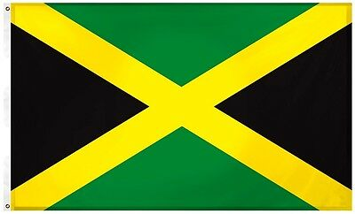 Jamaica Jamaican 3' x 5' Flag w/ Grommets to Hang Pride Country Soccer Banner