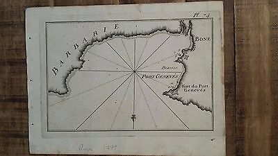 Circa 1780 Joseph Roux Map - Port Geneves / Plate 74