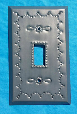 Mexican Tin Toggle Light Switch Plate Cover Chrome Copper Matte Shiny Metal