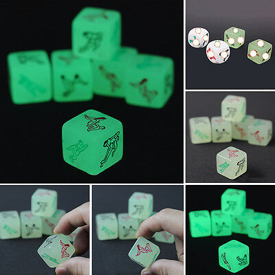 Adult Sex Toys New Games Aid Luminous Glow in dark Product Dice for Lovers New