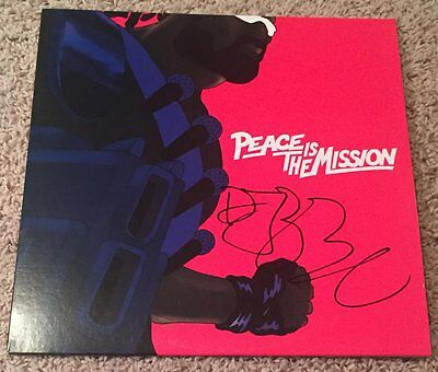 DIPLO SIGNED AUTOGRAPH MAJOR LAZER PEACE IS THE MISSION VINYL ALBUM wEXACT PROOF