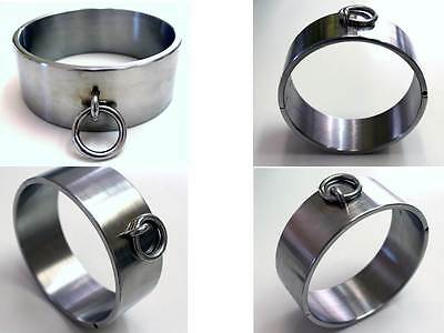 Ultra Rare 6CM Extra Tall Heavy Stainless Steel Neck Ring Cuff Collar Brace Lock