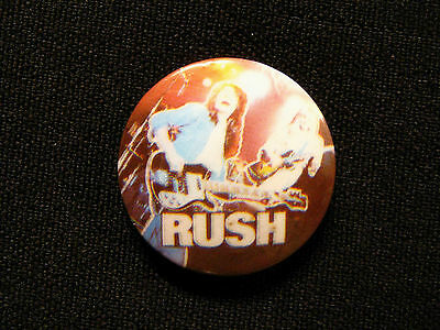 Rush Vintage  Button Badge Pin Uk Made Live