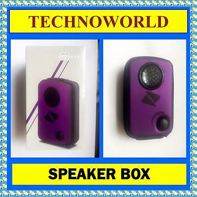 Boost Hard Case Speaker For Mobile Phone+Ipod+Apple Iphone 3.5Mm Plug Purple