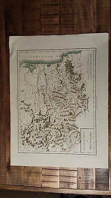 VERY NICE, ANTIQUE Hand Colored map of Roussillon, France - P. Tardieu, c.1790