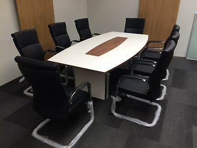 boardroom conference table and office meeting chairs