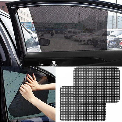 2x Car Rear Window Side Sun Shade Cover Block Static Cling Visor Shield Protect