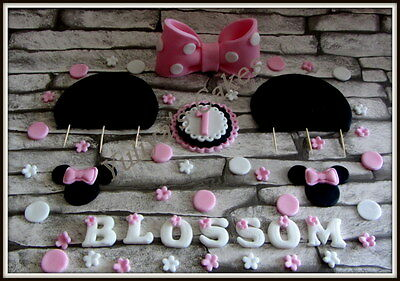 Minnie Mouse edible cake topper,decoration,Birthday,christening,sugar decoration