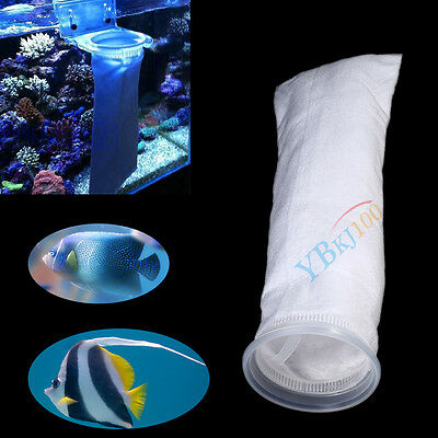 "150/200 Micron 4 ""x 15"" Poisson Tank Aquarium Marine Puisard Pré Filter Sock Sac"