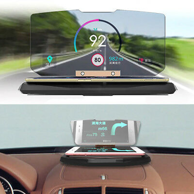 Universal Car GPS Navigation HUD Head Up Display Phone Holder for iphone 7/6s
