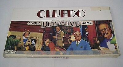 Cluedo Board Game Vintage 1983 Parker Brothers Classic Detective Game