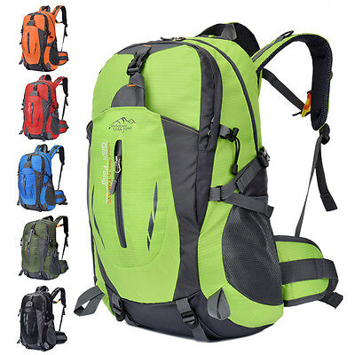 40L Camping Hiking Cycling Waterproof Sports Backpack Outdoor Rucksack Bag