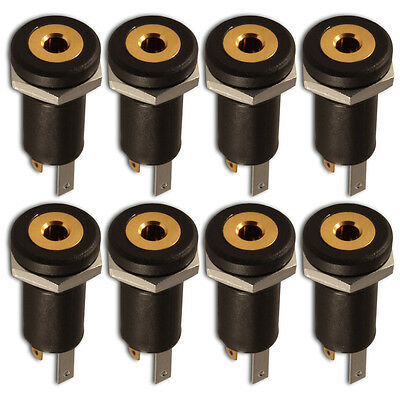 2.5mm Jack Chassis Panel Mount 3-Pole Stereo Female Socket Connector x 8