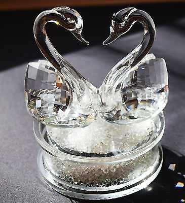 Pair of Swan Crystal Cut Swarovski Element with Gift Box