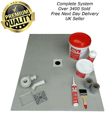 Wet Room Wetroom Shower Tray Kit 20mm All sizes  Including Linear Kits (R)