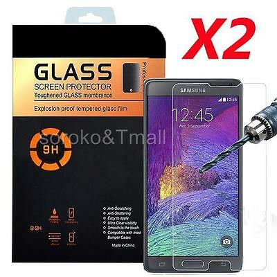 2X Premium Real Tempered Glass Screen Protector for SAMSUNG Galaxy Note 4