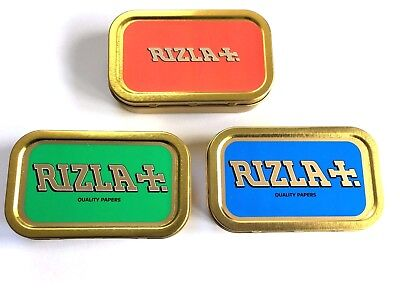 1oz Metal RIZLA Storage Smoking Cigarette Unhinged Tobacco Tin LICENSED TIN SEAL