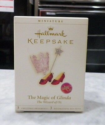 Hallmark Keepsake Ornament Wizard Of Oz 2006 The Magic Of Glinda 3 Ornaments