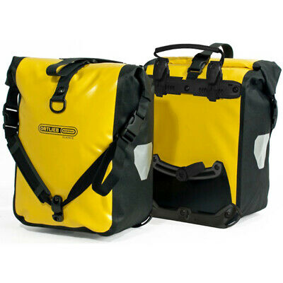 Ortlieb Front Roller Classic Ql2.1 Waterproof Pannier Bag (Pair) Yellow/black