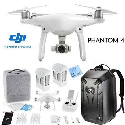 DJI Phantom 4 Quadcopter Drone w/ Hardshell Backpack + Spare Battery