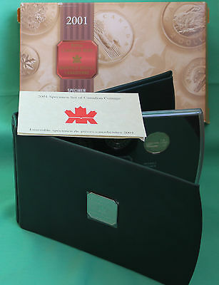 Canada RCM 2001 Specimen 7 Coin Set with Box and COA Canadian #R