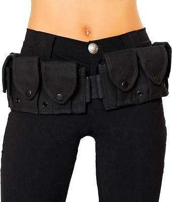 Police Officer Utility Belt w/ Pouches Halloween Costume Accessory Adult Women
