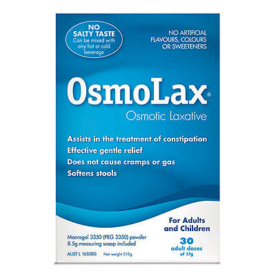 NEW Osmolax Constipation Relief Powder 510g Dietary Supplements