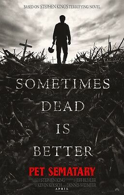 """PET SEMATARY 2019 Advance Teaser DS 2 Sided 27x40"""" US Movie Poster Stephen King"""