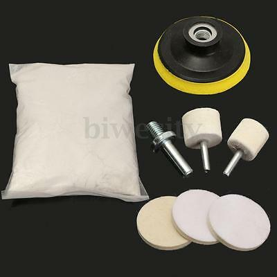 8Pcs Glass Polishing Kit 8oz Cerium Oxide For Car Windscreen Scratch Remover New