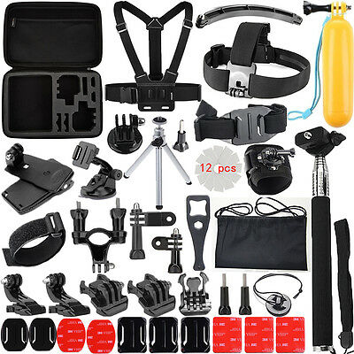 50 in 1 Pole Head Chest Mount Strap For GoPro Hero 2 3 4 Camera Accessories Kits