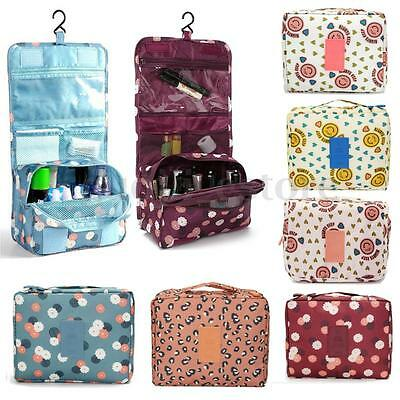 Travel Cosmetic Makeup Bag Toiletry Wash Case Organizer Storage Hanging Pouch