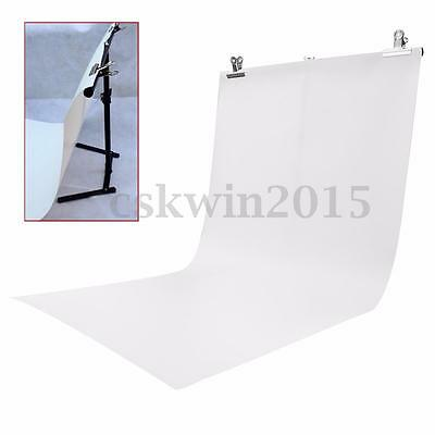 Background Stand Kit + White Photo Studio Photography Backdrop With 2 Clips Set
