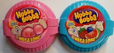 brand new HUBBA BUBBA GUM mega long 56gr triple mix/fancy fruit KOSHER