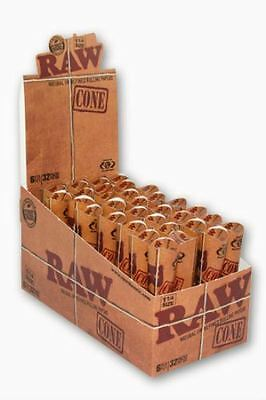 Raw Rolling Paper Cone 1 1/4 Full Box of 32 Packs 192 Cones