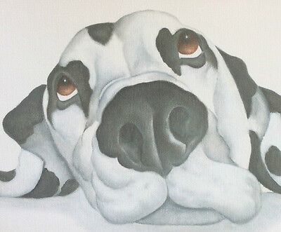 dalmatian painting on ready to hang CANVAS fine art print by artist Lizzie Hall
