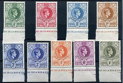 Swaziland 1938-54 perf 13½ x 13 short to set to 1s + shade marginal MLH cat £109