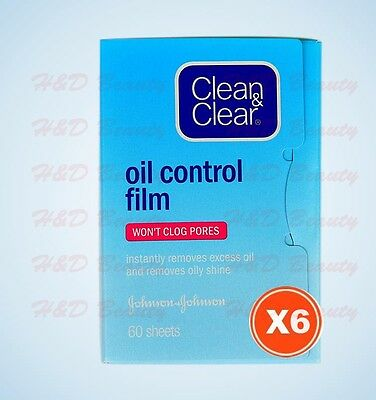 6 packs x Clean & Clear Oil-absorbing Sheets Oil Control Film Water-oil Balance