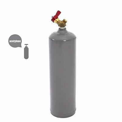 DOT portable 10 Cubic Foot Acetylene Cylinder Tank Empty torch oxy cut welding